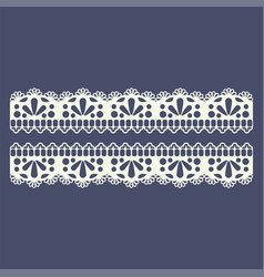 lace border pattern for boutique fashion vector image