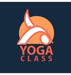 Logo in a line style Fitness room yoga vector