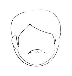 Man faceless head vector