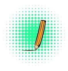 Pencil icon comics style vector image