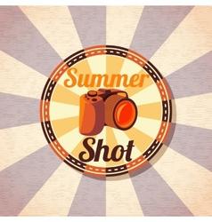 Photo camera for summer shots vector