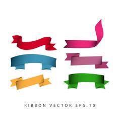 Ribbon set template design vector