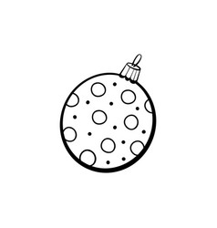 round christmas toy coloring book vector image