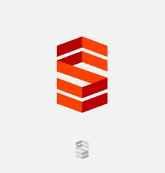 S logo monogram consist folded lines vector