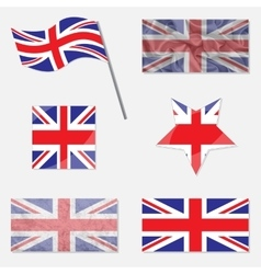 Set with Flags of United Kingdom vector