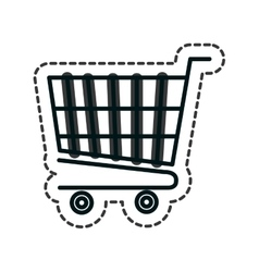 shopping cart isolated icon vector image