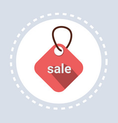 shopping icon tag sale concept flat vector image