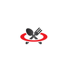spoon and fork logo design template vector image