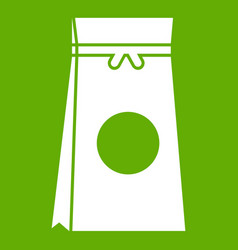 tea packed in a paper bag icon green vector image