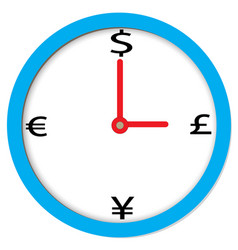 Time of money sign time of money on white vector