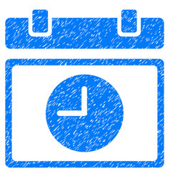 Time schedule grunge icon vector
