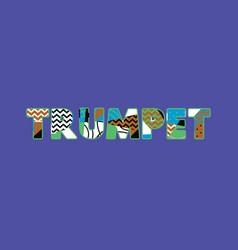 Trumpet concept word art vector