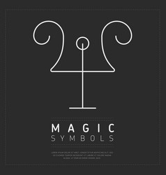 White simple element of magic vector