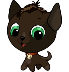 cute kitten vector illustration vector image vector image