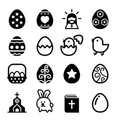 easter icon vector image