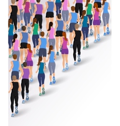 Group running people vector image vector image