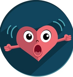 Heart in anger vector