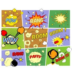 Mockups of comic book speech bubbles vector image vector image