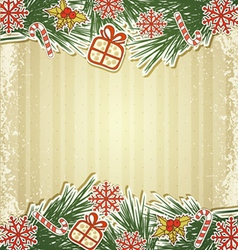 new retro background with tree branches and eating vector image