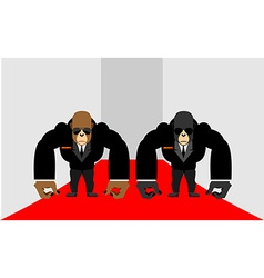 Security Guards of a gorilla Big Bodyguards vector image vector image