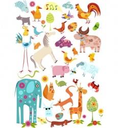 wild animals vector image