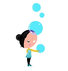 bubble girl vector image vector image