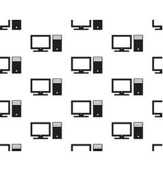 computer seamless vector image vector image