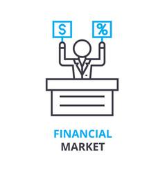 financial market concept outline icon linear vector image vector image