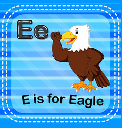 flashcard letter e is for eagle vector image vector image