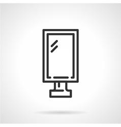 Lightbox black line icon vector image vector image