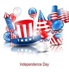Party Background in Traditional American Colors vector image