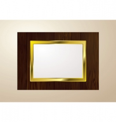 wood picture frame vector image