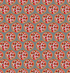 American Pizza seamless pattern background food vector image