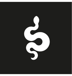 Annular snake sign icons in flat design style vector image vector image