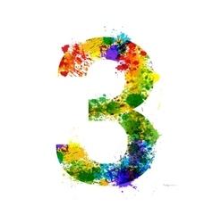 Color Paint Splashes Gradient Font Symbols vector image