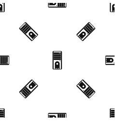 computer system unit pattern seamless black vector image vector image