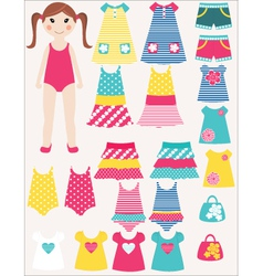 Dress me vector image