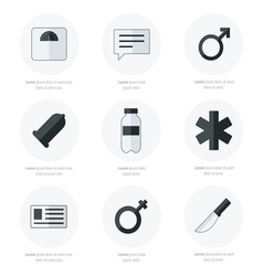 Medical flat icons design black and white vector