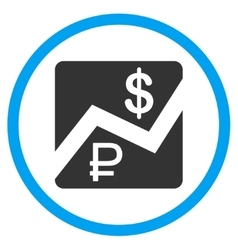 Rouble And Dollar Finances Icon vector image