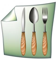 spoon fork knife vector image