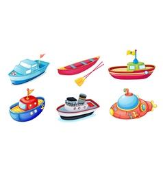 various ships vector image vector image