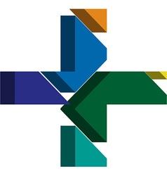 3d CROSS symbol vector