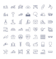 49 industrial icons vector