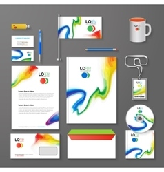 Abstract Corporate Business identity Template vector image