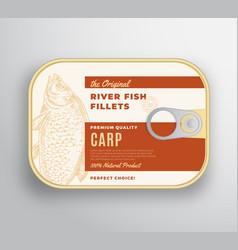 Abstract river fish fillets aluminium vector