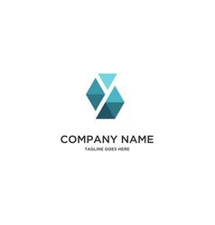 abstract y triangle logo vector image