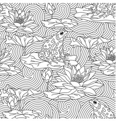Adult antistress coloring page vector