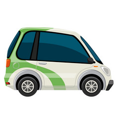 an electric car on the white background vector image