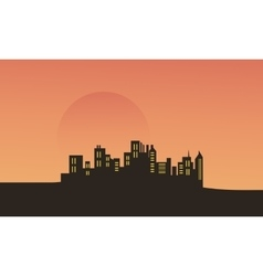 At afternoon city scenery vector
