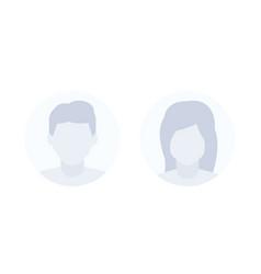 Avatars default photo placeholders vector